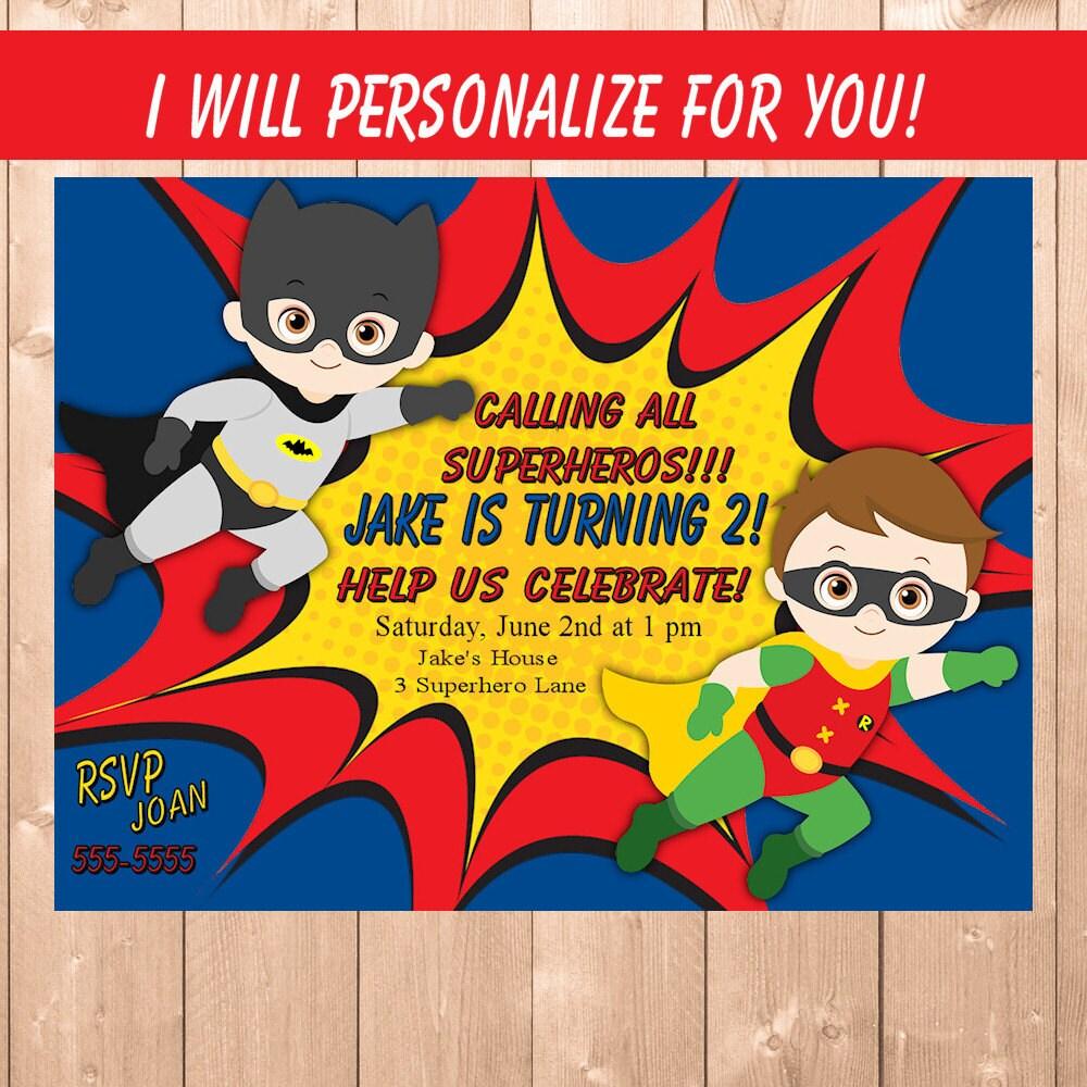 batman invitation – funpartysupply