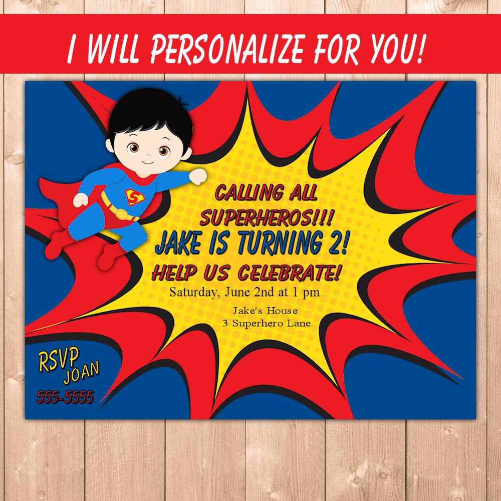superman invitation funpartysupply – Superman Birthday Party Invitations
