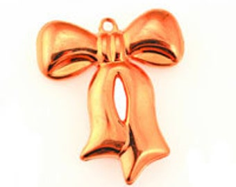 Puffed Bow Pendant  (12pcs)