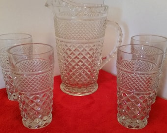 wexford glass set with glass pitcher anchor hocking water glasses and water pitcher