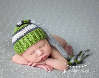 long tail knitted hat