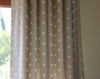 Dotty Short Pencil pleat Curtains