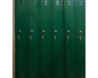 Dark Varsity Green Old School Lockers