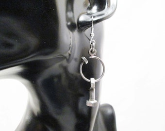 Earrings with steel bolts