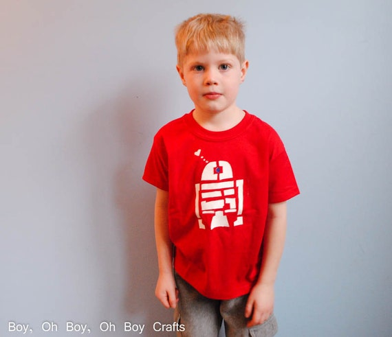 Items Similar To Stenciled R2d2 T Shirt On Etsy