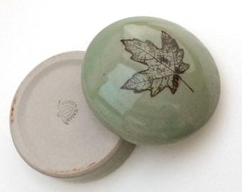 Green Leaf Trinket Box