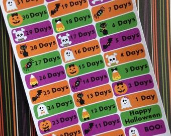 Halloween Countdown Stickers