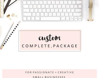 Complete Design Package - Custom Logo and Website Design - Modern and Feminine