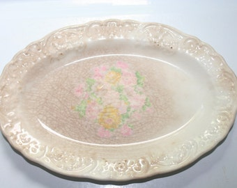 Antique 1800's China Platter, Vintage China