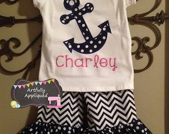 Custom Boutique Anchor Outfit