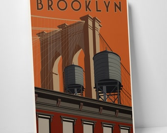Brooklyn Gallery Wrapped Canvas Print