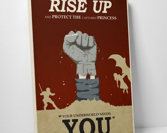 Rise Up Gallery Wrapped Canvas Print