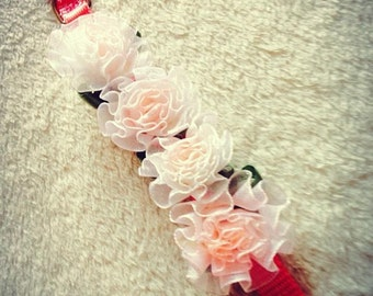 Pink Flower Dog Collar Wedding Dog Collars puppy Flower Collar Rose Dog Collars