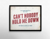 90s Nostalgia Rap Poster Can't Nobody Hold Me Down Music Artwork Puff Daddy Diddy College Dorm Decor Hip Hop Lyric Art Print
