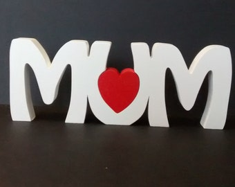 MUM free standing wooden name plaque/ fathers day day/ birthday gift
