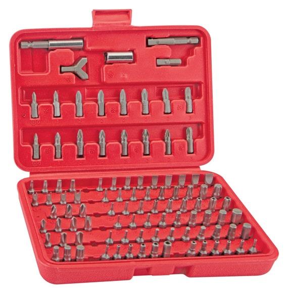 drill screwdriver bits tools set 100pc kit with organizer storage prote. Black Bedroom Furniture Sets. Home Design Ideas
