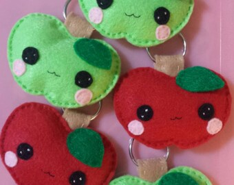 cute apple keychain