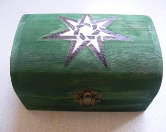Green Wooden Faery Star Magick Chest