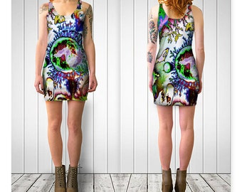 GOOD STRESS  Reversable  Bodycon Dress