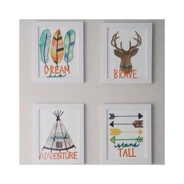 Tribal Nursery Wall Decor : Our best seller made to order tribal nursery by