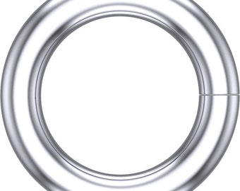 14kt White Gold 5mm ID Round Jump Ring, Round Jump Ring, 5mm Long, Ring Making