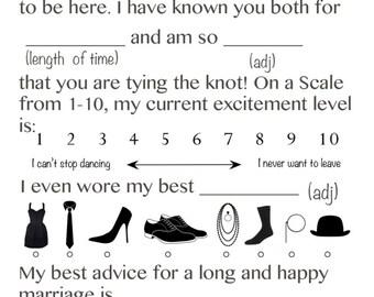 Wedding Mad Libs Game (Printable File)