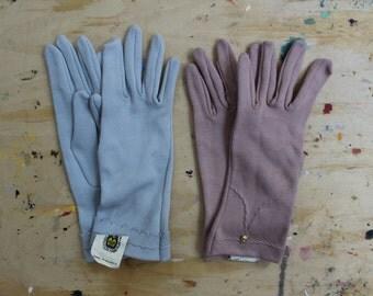 NOS Soviet Vintage Gloves, Vintage Russian Light Blue Cotton Gloves. Mid Century Womens Cloves. Made in USSR