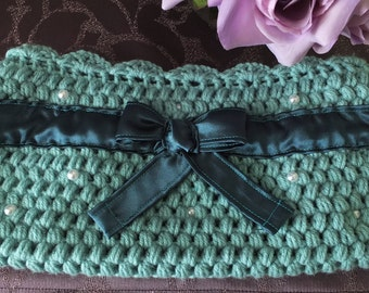 Elegant Turquoise Clutch