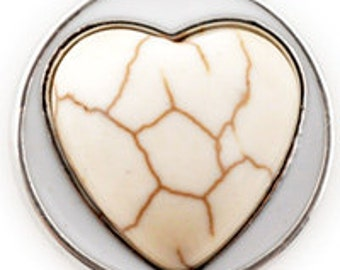 White Heart Stone Snappy
