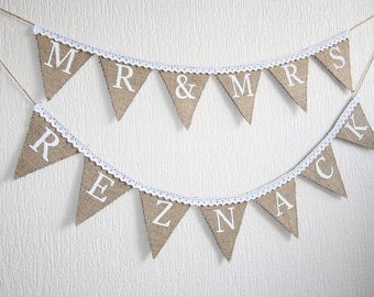 mr and mrs banner, MR & MRS burlap banner,mr and mrs  wedding banner, mr and mrs rustic Wedding banner, rustic wedding