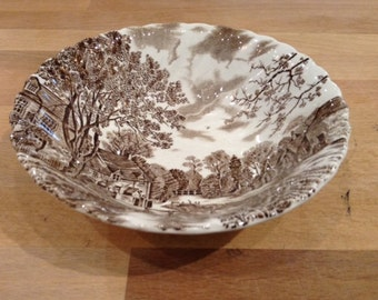 """Johnson Bothers Cotswold Brown 6"""" Bowl"""