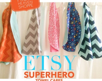 Superhero Towel Cape (Reversible)