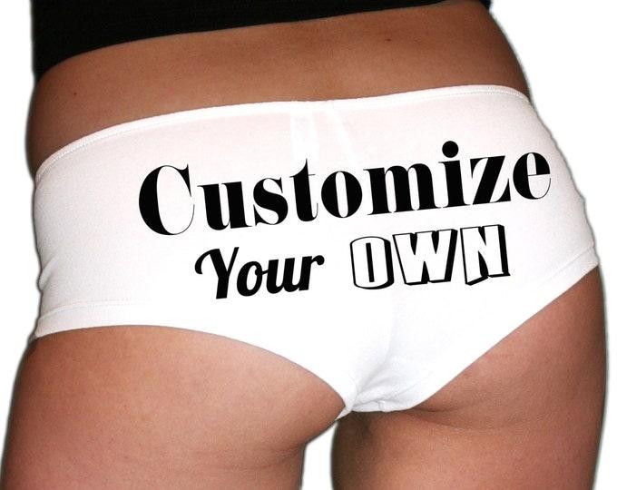 Customize Your Own Underwear