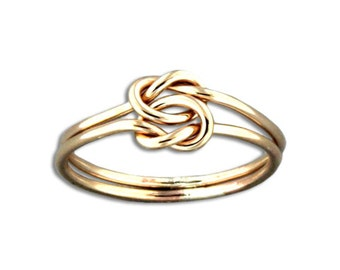 Hand Crafted Double Love Knot Ring