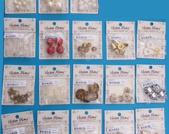 Beads-Buttons-Zipper pulls-Metal frog closures- Cord ends - Assorted designs- Priced to sell - 18 styles- CLEARANCE.