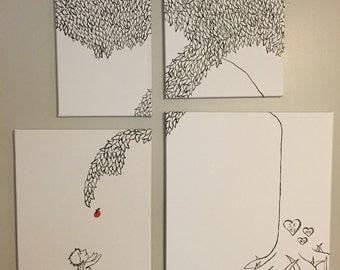 Apple Tree Canvas Set