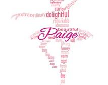 Ballerina Art, Ballerina Word Art, Dancer Art, Dancer Word Art, Personalized Word Art Typography,  PRINTABLE DIGITAL FILE