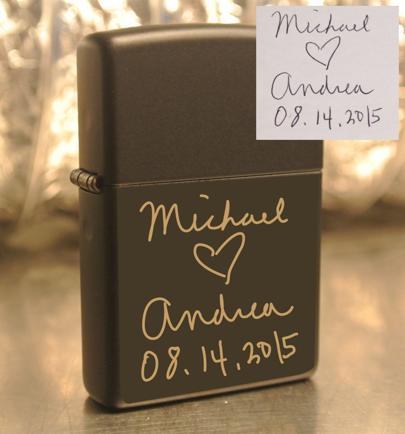 Personalized Or Handwritten Zippo Groomsman Bridesmaid Gift