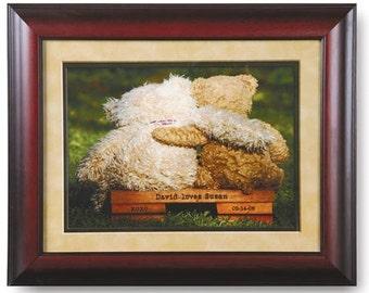 Framed Personalized Sweetheart Teddy Bears Print
