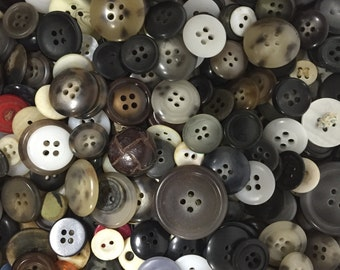 Vintage Assorted Acrylic Buttons - 4oz