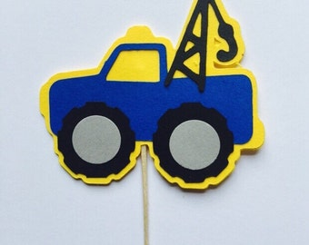 Tow Truck Cupcake Topper
