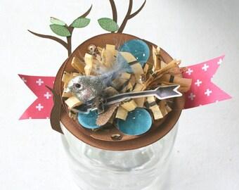 Paper Craft Kit: Paper Bird Nest Favors