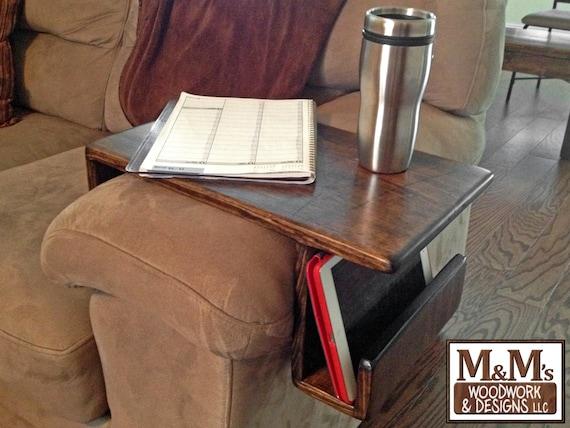 Couch Tray Handmade Custom Fit Wood Sofa Arm Rest Caddy