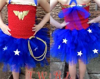 The Diana - Wonder Woman tutu Wonder Woman costume super hero tutu super hero costume super-man tutu super woman tutu