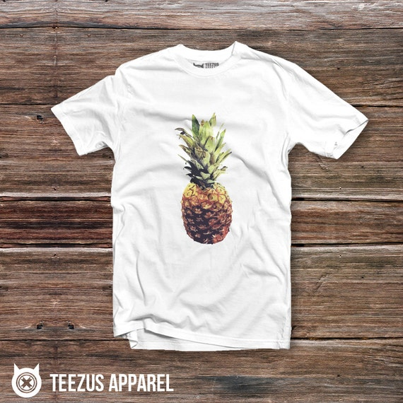 Pineapple tee shirt pineapple graphic tee pineapple t for Hawaiian graphic t shirts