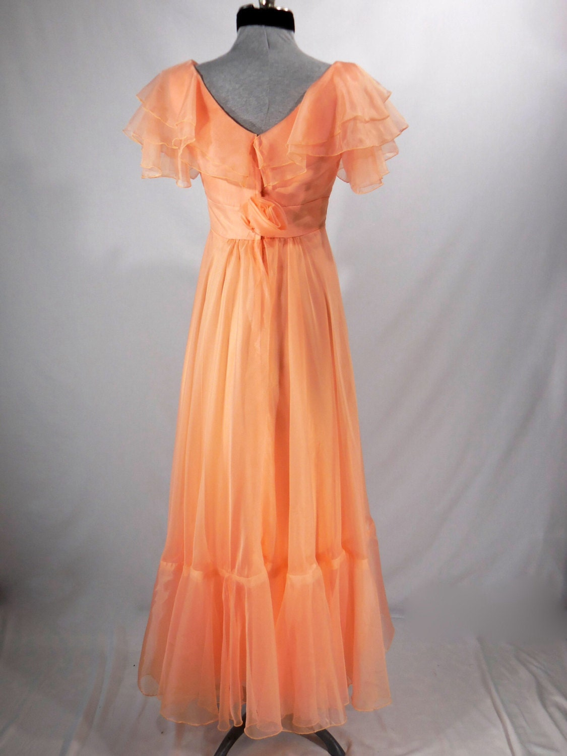 vintage 1970s formal dress bridesmaid evening party prom