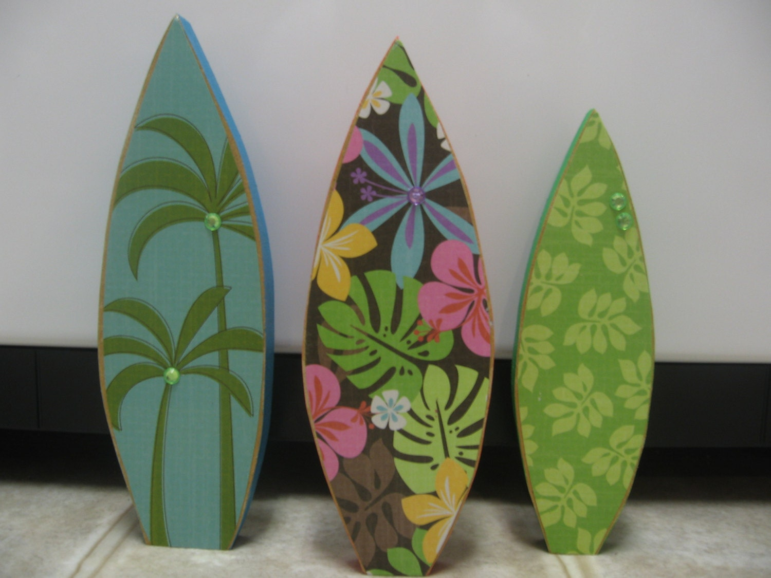 Summer decor beach decor beach house decor wood surf board for Summer beach decor