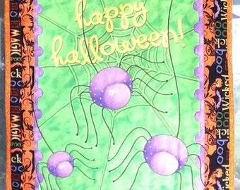 "Halloween Wall Hanging ""Purple Spiders "" #4"