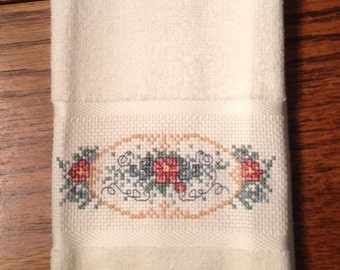 Cross Stitched Guest Towel