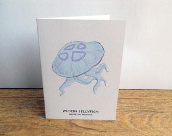 Moon Jellyfish Card